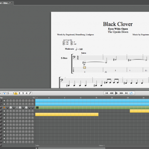 """Black Clover"" Guitar and Bass tab"